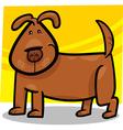 cartoon doodle of cute dog vector image vector image