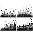 meadow set vector image vector image