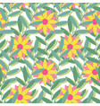 bright tropical seamless pattern background of vector image