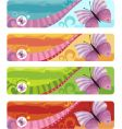butterfly banner vector image
