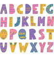 colorful hand drawn tribal font vector image