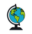 colorful image cartoon earth globe vector image