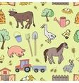 Doodle pattern farm vector image