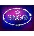 Neon Light Bingo Isolated vector image