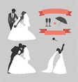Wedding set of design elements vector image