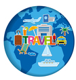 worldl travel concept stickers vector image vector image