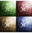 Lights on color backgrounds vector image vector image