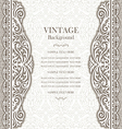 Wedding card with lace pattern vector image vector image