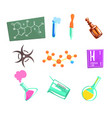 chemist scientist and chemical science related vector image vector image