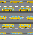 city bus seamless pattern vector image