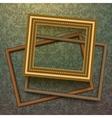 Vintage golden frames on floral background vector image vector image