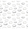 Retro hand engraving clouds on white seamless vector image vector image