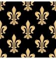 Vintage golden fleur-de-lis seamless pattern vector image