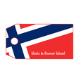 Bouvet Island flag on price tag vector image