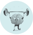 Train your brain weightlifting vector image