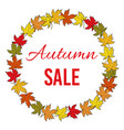 autumn fall sale poster vector image