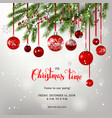 background and christmas tree decor vector image