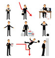 frustrated businessman character set business and vector image