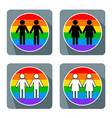 gay couple symbol vector image