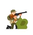 hunter in ambush vector image