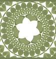 mandala pattern vintage elements in oriental vector image