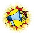 megaphone design vector image