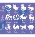 or icons of all twelve Chinese zodiac animals vector image