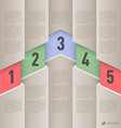 Paper style infographics vector image