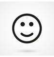 Smile Icon black on white background vector image