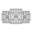 three wooden barrel drink clover outline vector image