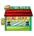 a fastfood restaurant vector image vector image