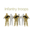 Infantry Troops Soldiers with Weapon vector image