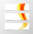 Set of header banner soft design vector image