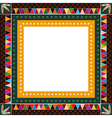 American Indian border frame vector image