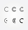 initial letter c logo typo pack vector image vector image
