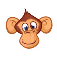 happy cartoon monkey head vector image