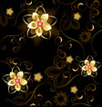 Jewelry pattern on a brown background vector image