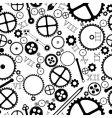 clock pieces pattern vector image