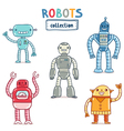 Robots collection vector image vector image