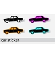 car stiker icons vector image