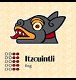 Aztec symbol Itzcuintli vector image