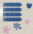 stick jeans flower vector image vector image