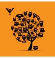 Owl tree for your design vector image vector image