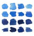 blue blots watercolor set vector image