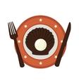 delicious seafood menu icon vector image