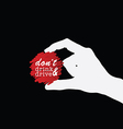 dont drink and drive icon in hand on black vector image