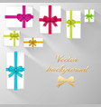 festive gift cards template vector image