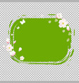 green stain with flowers vector image