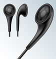 Headphone set vector image