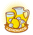 lemonade label vector image